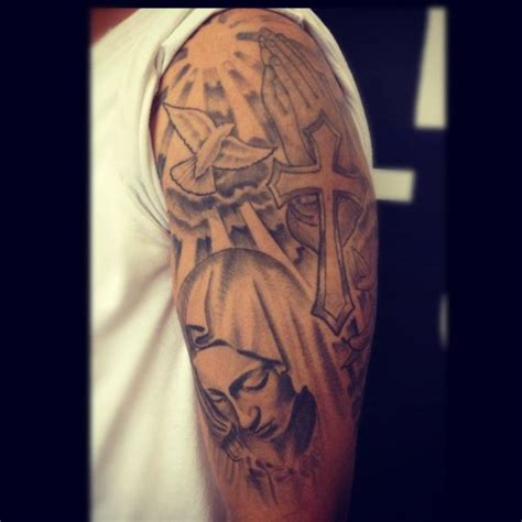 mad religious tattoo 2 religious arm tattoo on