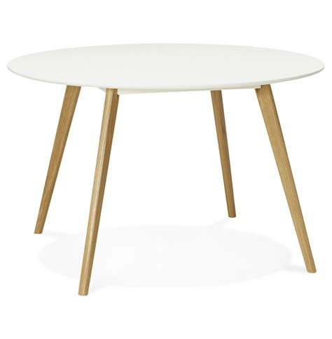 Table Scandinave Ronde by Table Ronde Scandinave Plateau Blanc Pieds Bois Immy