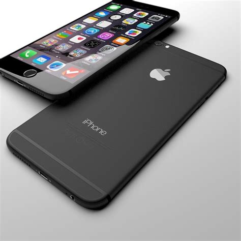 apple iphone 6 black 3d model max cgtrader
