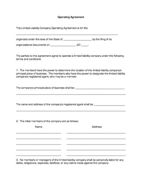 operating agreement amendment template modal title