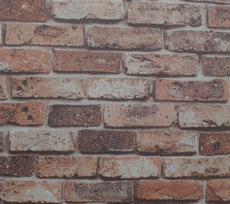 Brick Wall Mural mural d 233 coratif de vinyle 3d conception de briques papier