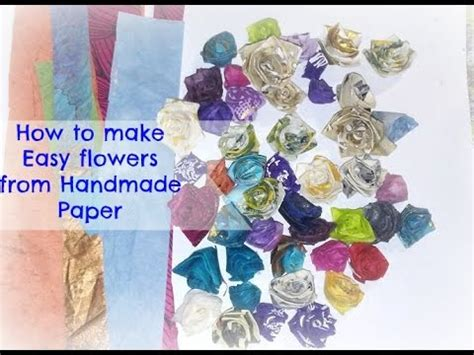 How To Make Small Roses With Paper - how to make easy small paper roses from handmade paper