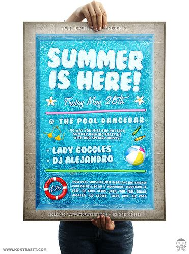 free pool flyer templates pool flyer flickr photo