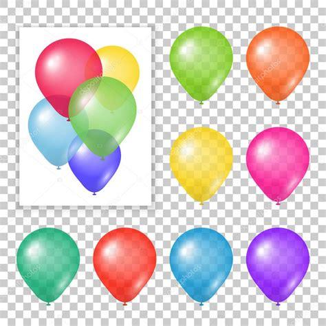 Imagenes De Globos Sin Fondo   conjunto de globos de fiesta en fondo transparente
