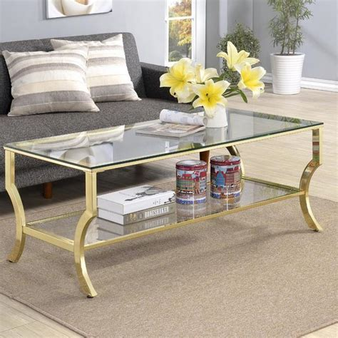 antique gold coffee table antique gold tempered glass coffee table