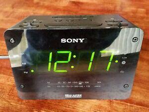 sony machine large display dual alarm clock radio auto time set icf c414 27242758131 ebay