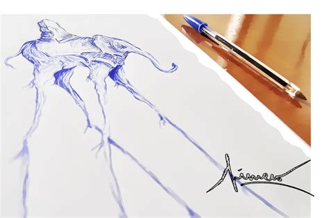 create doodle speed drawing how to draw salvador dal 205 elephant surrealism ballpoint