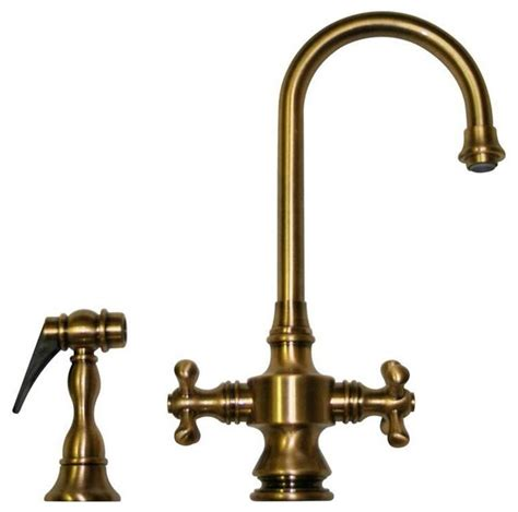 rustic kitchen faucet whksdcr3 8104 abras antique brass faucet rustic kitchen faucets by plfixtures
