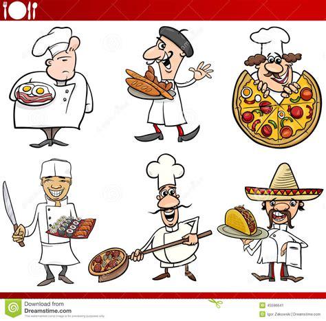 illustration cuisine international cuisine chefs stock vector image