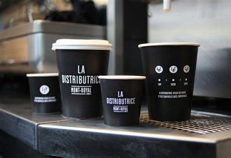 coffee shop branding design typography branding la distributrice coffee shop hibrid