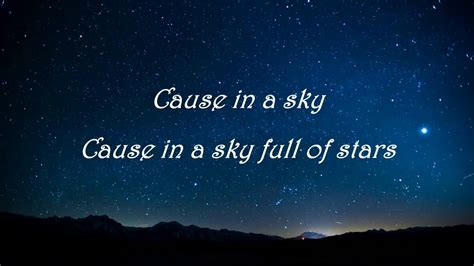 coldplay a sky full of stars coldplay a sky full of stars feat avicii lyrics video