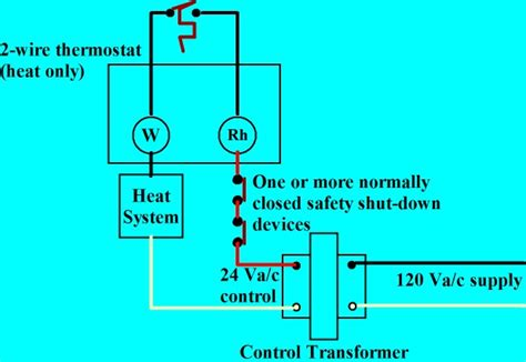 diagram thermostat basic 2 wire wiring diagram