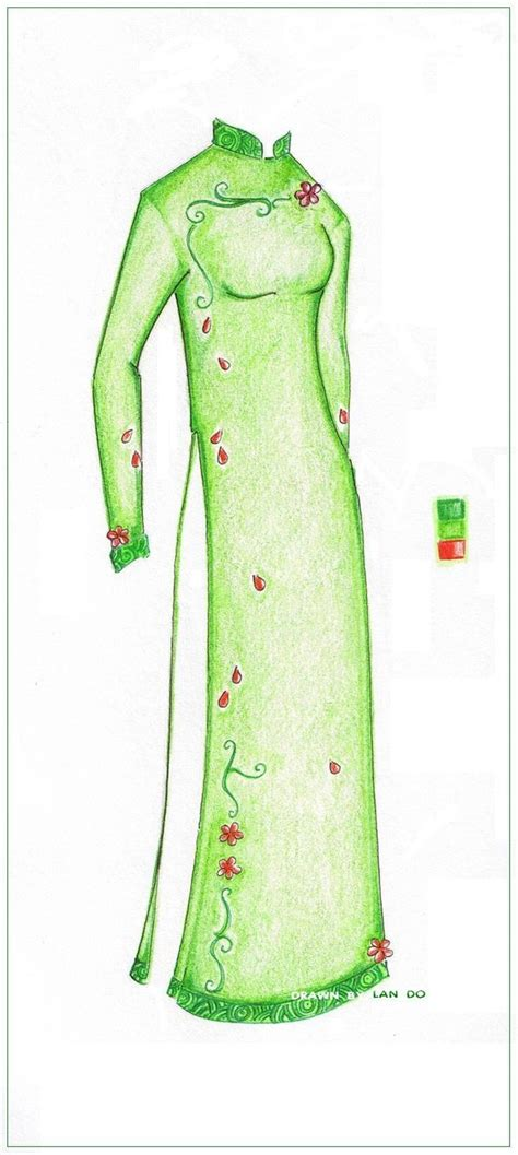 ao dai pattern ao dai green by color me sapphire on deviantart