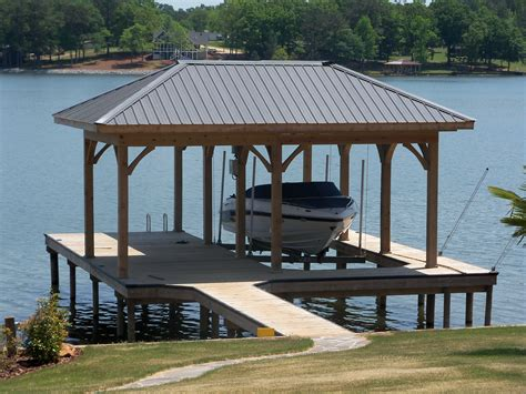 pontoon boat house boathouse lifts tradesman co