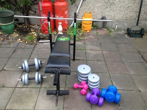 free weights and bench for sale weights bench barbell dumbbells press up stands and free