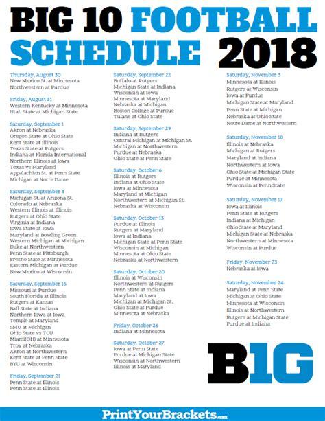 Mba Northwestern Fall 2017 Schedule by Nebraska Football Schedule The Best Football In 2018