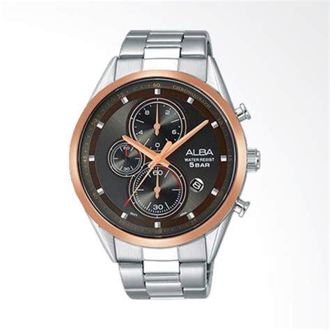 Jam Tangan Wanita Alba Date On Stainlist 2 jual alba chronograph stainless steel jam tangan pria brown am3424x1