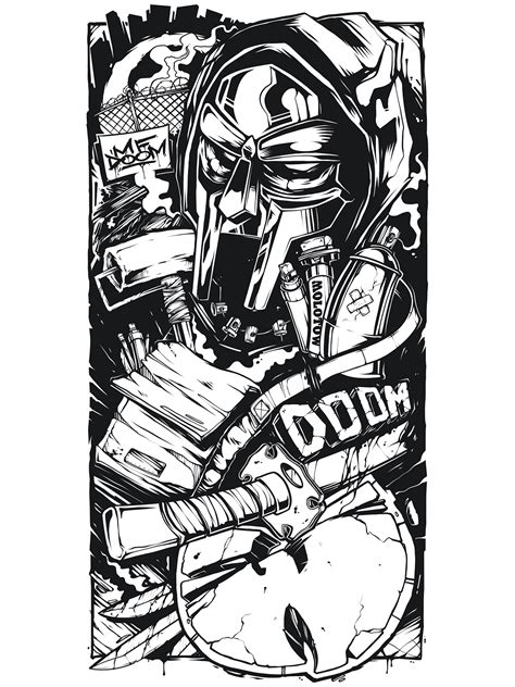 mf doom tattoo sleeve sketch mf doom wu tang on behance