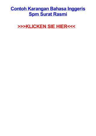 contoh karangan bahasa inggeris spm surat rasmi by