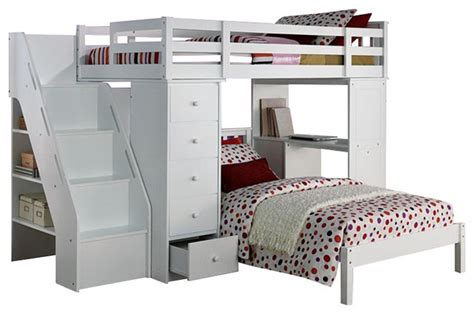 Size Desk Bed by Megan Collection Size Loft Bed Desk Chest All In 1