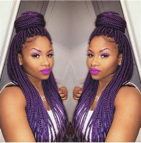 pictures of blue hair braided into brown hair the 25 best purple box braids ideas on pinterest purple