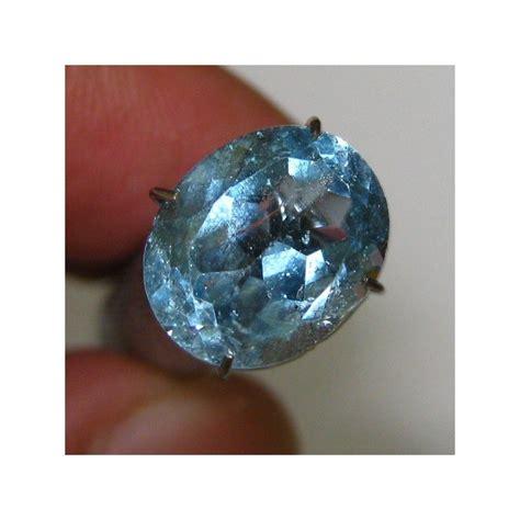 batu blue topaz oval 4 50 carat warna dan luster bagus