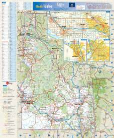 map of idaho large detailed roads and highways map of idaho state with all cities and villages vidiani