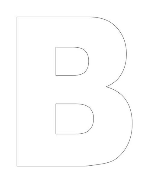 Large Letter Templates alphabet letter b template homeschool letter work