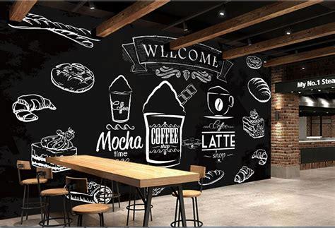 Harley Davidson Home Decor custom food shop wallpaper coffee bread 3d modern murals