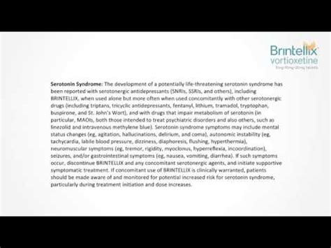 Vortioxetine Also Search For Brintellix General Information Clinical Pharmacology