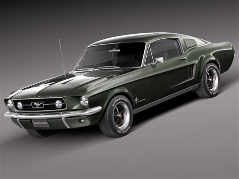 ford mustang fast back 3d max 1967 mustang fastback
