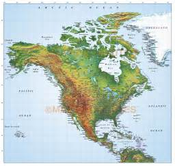 america map with mountains mountain ranges in america