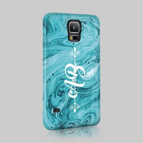 Decorative Phone Cover by Personalised Colourful Marble Initials Custom Phone