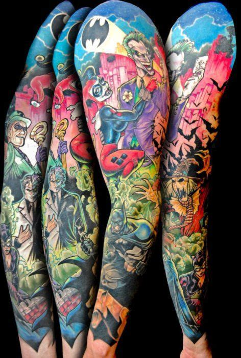 batman comic tattoo sleeve 25 best ideas about batman tattoo sleeve on pinterest