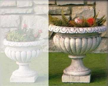 vasi in cemento da giardino vaso cemento a calice artimino grande arredo per giardini
