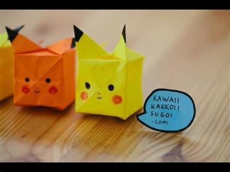 Origami Raichu - pikachu origami what you will need a square yellow