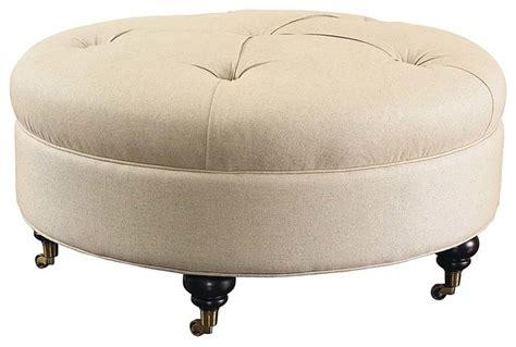 round fabric ottoman custom round ottoman beige woven fabric