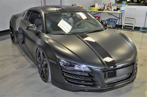 Audi R8 Schwarz by Tuningcars Evil 800hp Matte Black Audi R8 By Vf Engineering