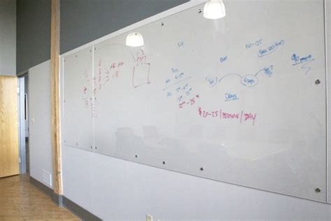 big white boards writing on the wall custom whiteboards for your office