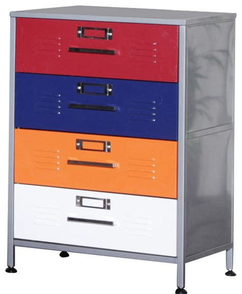 Locker Dressers by Elite Products Locker Multicolor 4 Drawer Dresser Dressers By Cymax