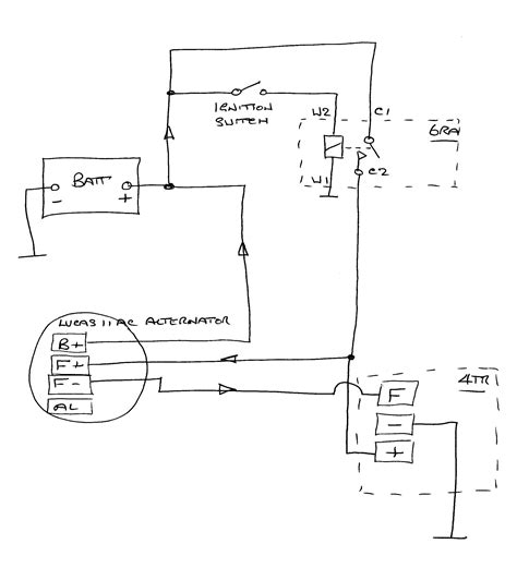 alternator wiring diagram lucas wiring free
