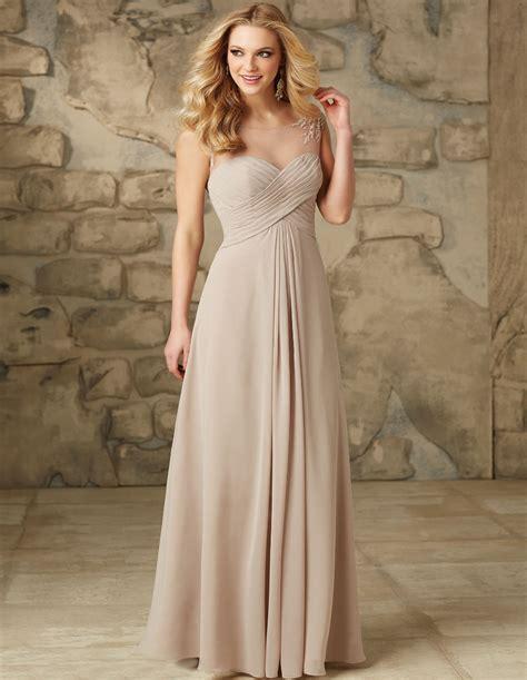 Gaun Chiffon chiffon chocolate bridesmaid dresses 2015 appliques cheap scoop plus size wedding