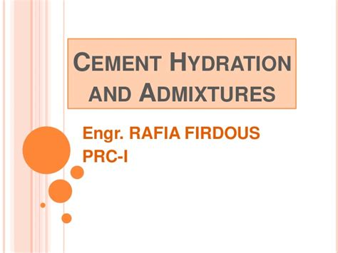 hydration concrete hydration of cement prc i