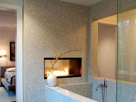 Fireplace In Bedroom And Bathroom Modern Gas Fireplaces