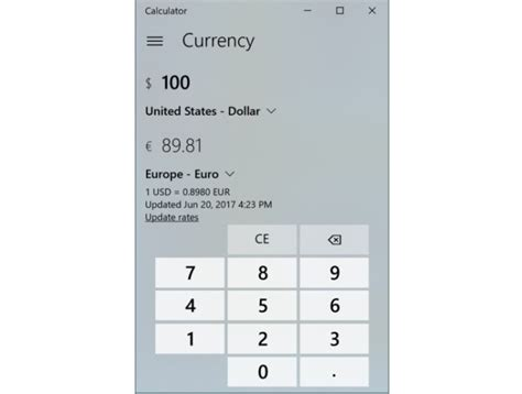 calculator currency the windows 10 fall creators update s best new features