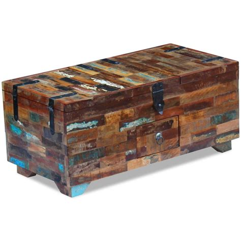 Coffee Table Box Vidaxl Co Uk Vidaxl Coffee Table Box Chest Solid Reclaimed Wood 80x40x35 Cm