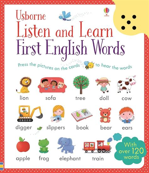 listen and learn first 1409597733 listen and learn first english words at usborne books at home