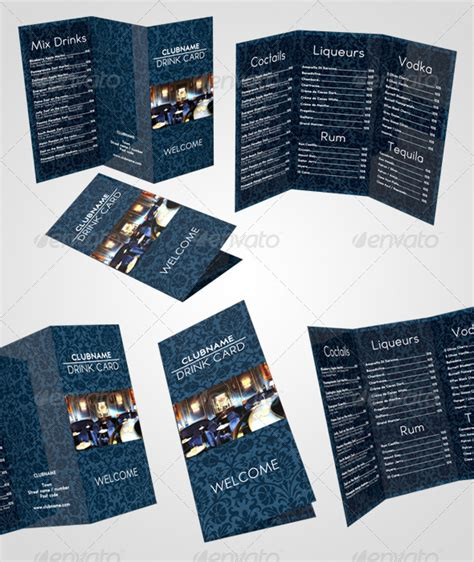 drink card template drink card menu by mmduo graphicriver