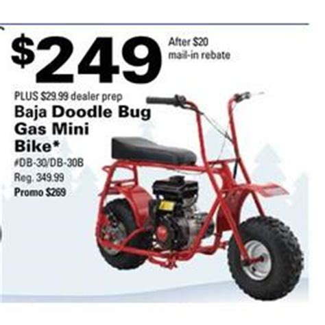 baja motorsports db30 doodle bug mini bike parts baja doodle bug gas mini bike at pepboys black friday 2012