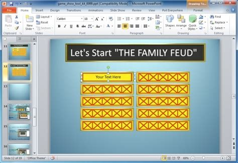 quiz show template powerpoint family feud powerpoint template